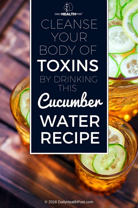 Detox Your From Roundup by Drink Cucumber Water To Keep Your Hydrated