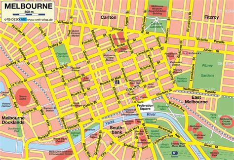 Winter Garden Fl Theater - stadtplan melbourne detaillierte gedruckte karten von melbourne australien der