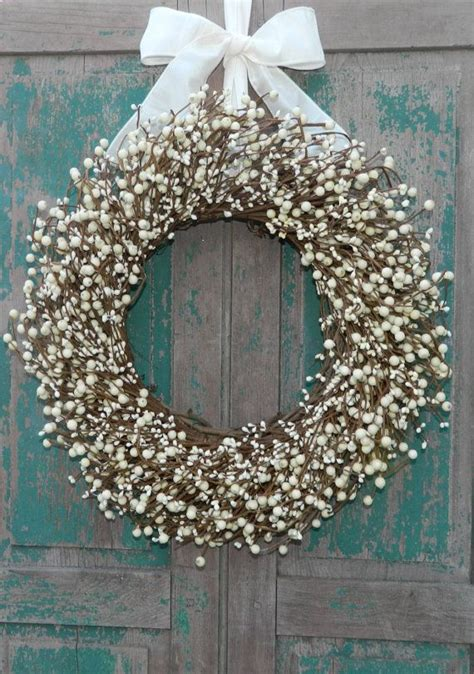 cream everyday wreath  season berry wreath