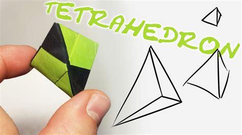 Tetrahedron Origami - modular origami tetraeder tetrahedron 2 units