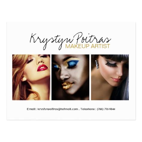 Makeup Artist Composite Card Template fully customizable makeup artist comp card postcard zazzle