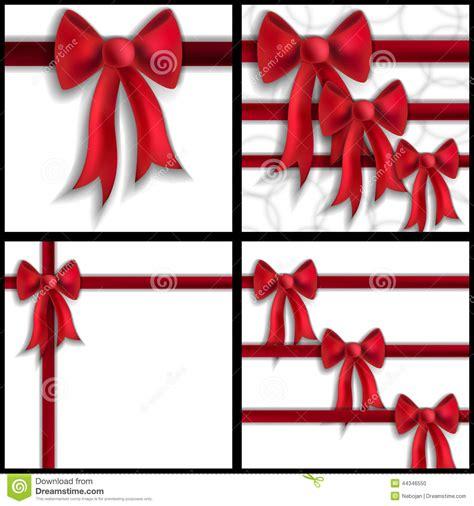 festive bows stock vector image 44346550