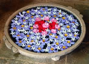 flowers decoration for home floating flower decorations rangoli designs pooja room
