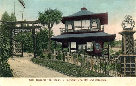 oakland tea house piedmont park piedmont california old postcards photos and other