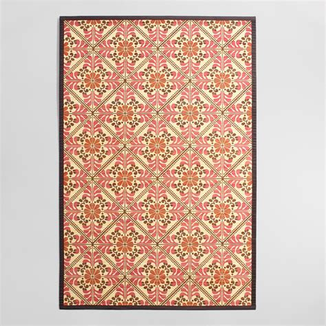 rugs floral 4 x6 and orange floral bamboo area rug world market