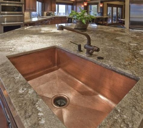kitchen sinks austin tx granite counter copper hill country dream home