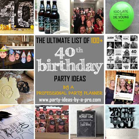 party themes 40 year old 100 40th birthday party ideas by a professional party planner