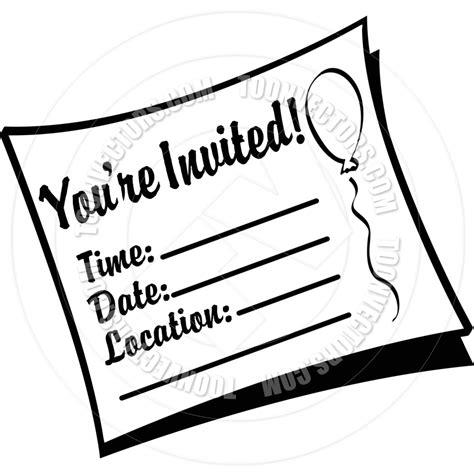image gallery invitation clip art