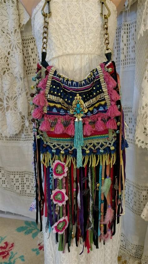 Handmade Boho Bags - details about handmade ibiza festival shoulder fringe bag