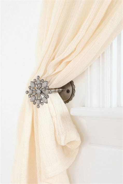 drapery tie backs ideas curtain outstanding curtain tie back ideas how to tie