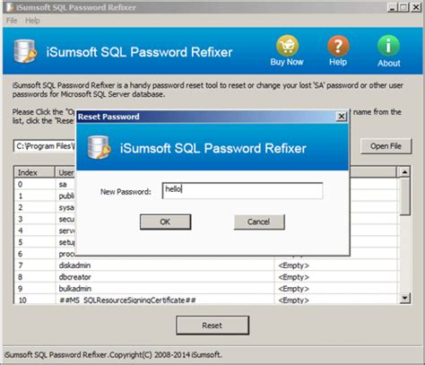 zip reset windows password isumsoft sql password refixer download