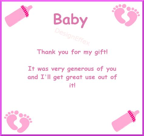 Thank You For The Baby Shower by Baby Shower Thank You Cards Designeffex