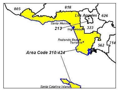 Area Code 310 Lookup Image Gallery Los Angeles 310 Area Code