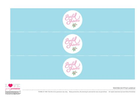 Bridal Shower Label Templates by Free Bridal Shower Printables From
