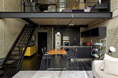 loft home decor industrial loft design with brick like walls digsdigs