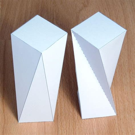 How To Make A Rectangular Prism With Paper - paper twisted rectangular prism rectangular antiprism