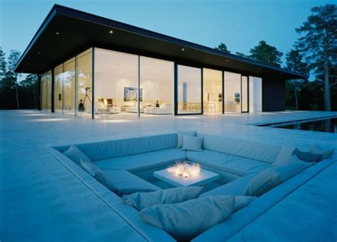 outdoor sunken seating area favethingcom
