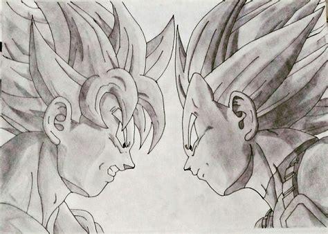 Z Drawings by Goku Vs Vegeta Pencil L S Maan Z