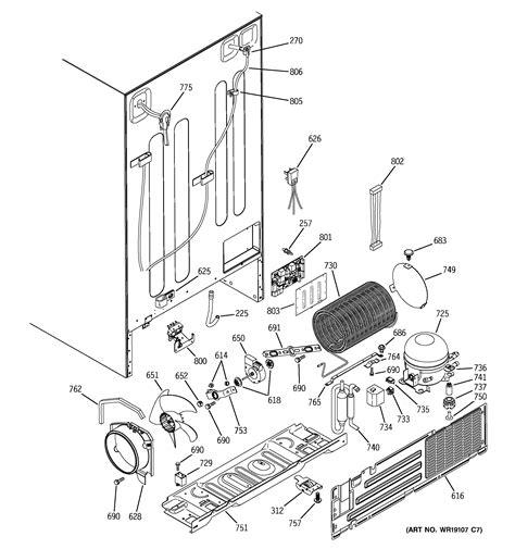 ge profile refrigerator diagram i a ge profile fridge the water from the fridge