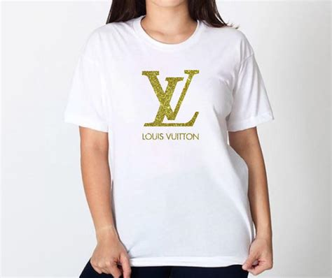 louis vuitton pattern t shirt louis vuitton inspired shirt lv tshirt fashion tee gold or