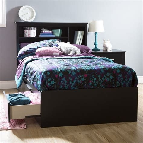 south shore fusion mates bed in black 9008d1