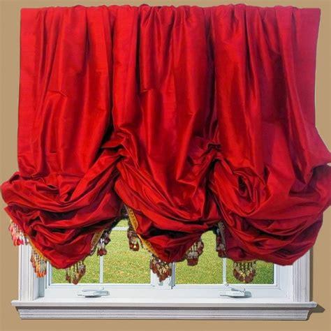 how to hang balloon curtains silk balloon shade traditional roman shades new