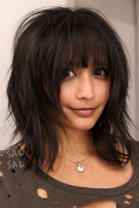 Medium Hairstyles Bangs by Best 25 Medium Hairstyles With Bangs Ideas On