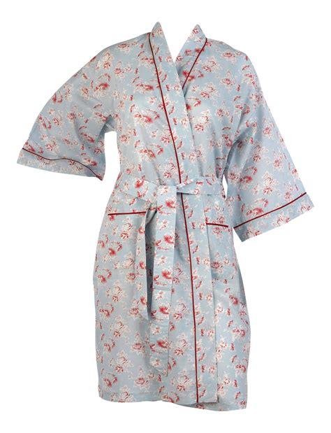 flower pattern robe ladies vintage floral kimono wrap womens lightweight
