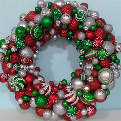 christmas ball wreath door hangers pinterest