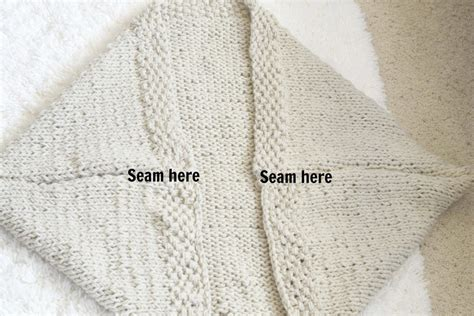 how to seam a knitted sweater easy knit blanket sweater pattern in a stitch