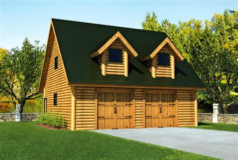 log cabin garage apartment kits house plans