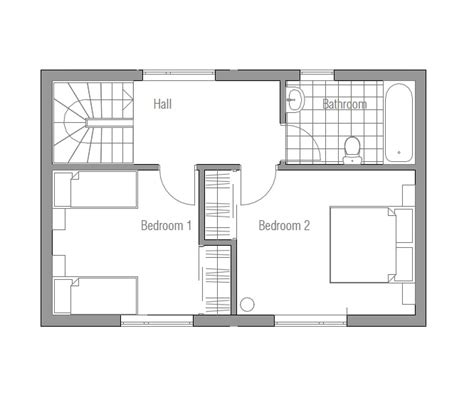 small lot floor plans small house plan ch59 design to small lot with three