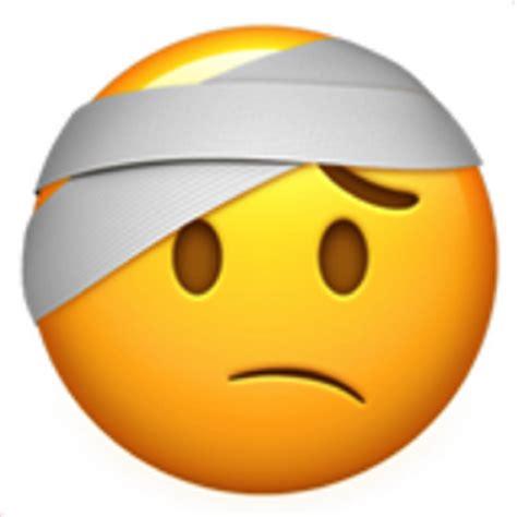 face  head bandage emoji uf