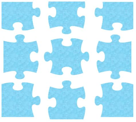 single puzzle template puzzle pieces