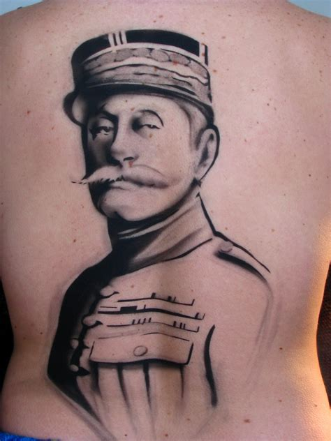 tattoo up close meghan tattoo close up marshal foch has a couple moles eh