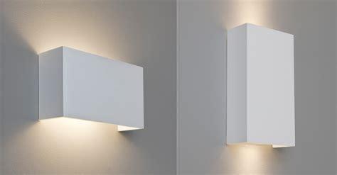 Low Dining Room Table astro pella rectangular plaster ceramic wall light