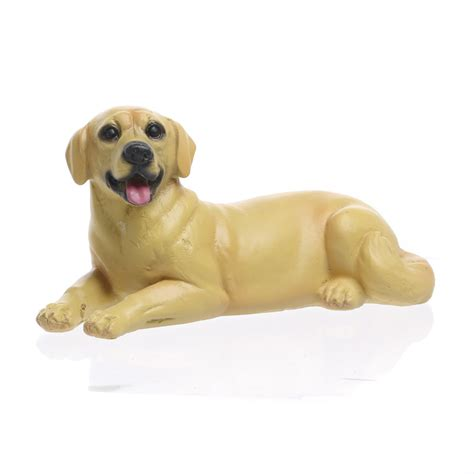 golden retriever figurine small laying golden retriever figurine table and shelf sitters home decor
