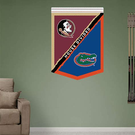 Florida Gators Home Decor by Florida Fsu House Divided Banner Wall Decal Shop