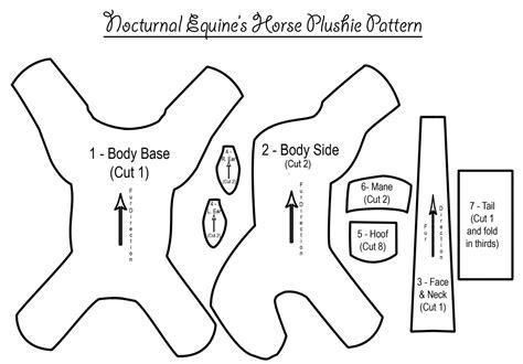 unicorn plushie pattern free horse plushie pattern by nocturnalequine on deviantart