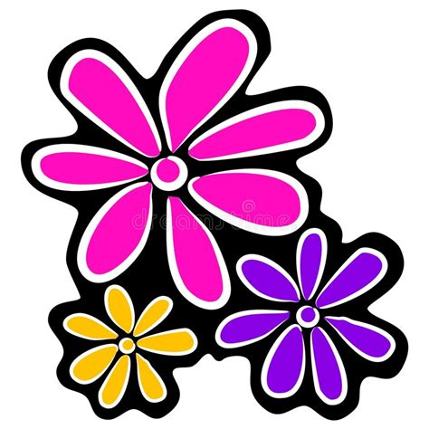 fiori clipart abstract retro flowers clipart stock illustration image