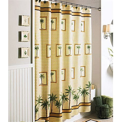 palm tree shower curtain better homes and gardens palm decorative bath collection