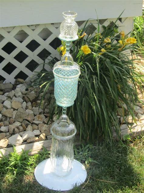 Garden Glass Totems Garden Glass Totem