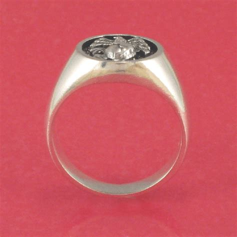 usmc marine corps ring solid sterling silver