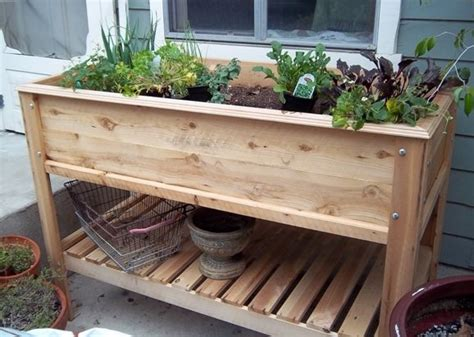 Patio Table Flower Planters by Raised Garden Planter Table Garden