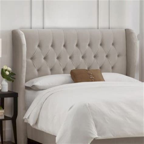 brompton tufted wingback velvet headboard collection d