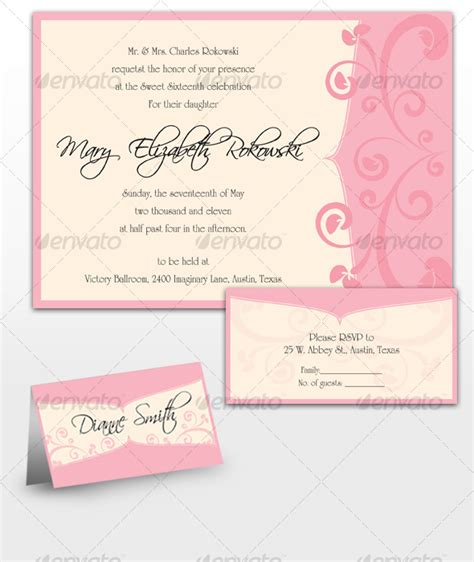 sweet 16 invitation card templates sweet sixteen invitations by designerodriguez
