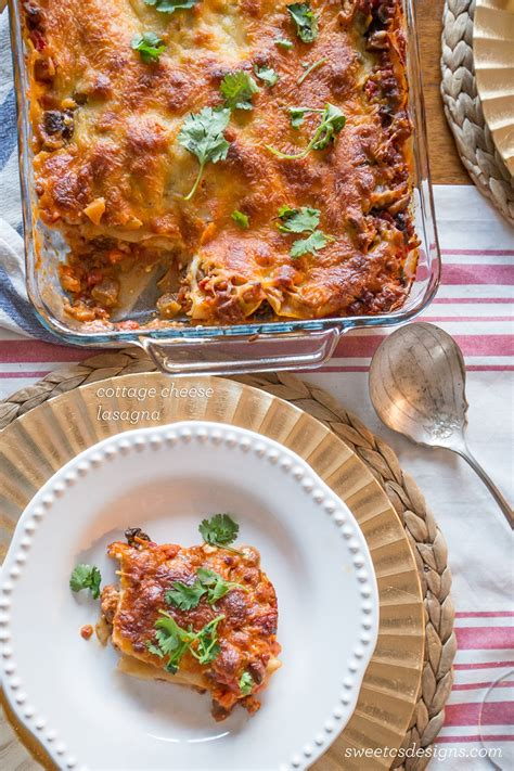lasagna recipe with cottage cheese cottage cheese ricotta lasagna lasagna recipe