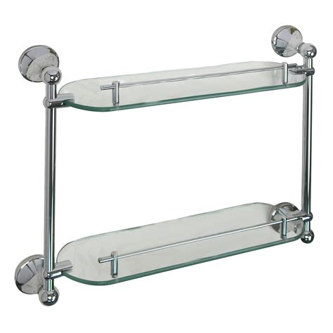 Lowes Glass Shelf by Shop Barclay Kendall 2 Tier Glass Bathroom Shelf At Lowes