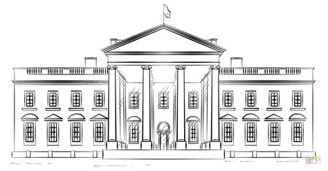 white house coloring page free printable coloring pages