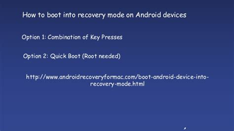 android boot into recovery how to boot android devices into recovery mode